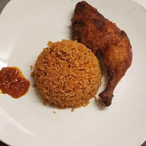 Jollof Rice with Beef / Chicken