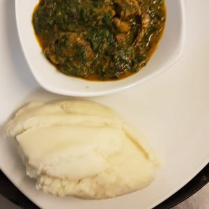 Vegetables Soup & Pounded Yam